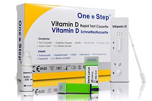 One+Step Vitamin D Test Kit Selbsttest I Vitamin D Mangel zu Hause testen I Vitaminmangel erkennen I Vitamin D Spiegel ohne Labor direkt zu Hause auswerten