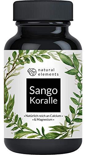 Sango Meereskoralle - 180 Kapseln - Natürliche Calcium- und Magnesiumquelle - Laborgeprüft, ohne Magnesiumstearat, hochdosiert
