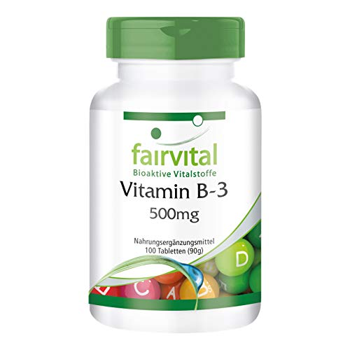 Vitamin B3 Niacin 500mg - HOCHDOSIERT - VEGAN - Nicotinamid - 100 Tabletten