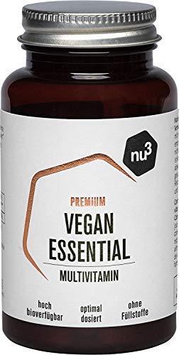nu3 Premium Vegan Essential - 60 Kapseln - mit Vitamin B2, B12, D3, Zink, Calcium, Jod & Selen - hohe Bioverfügbarkeit - Multivitamin Kombination ideal für vegane Ernährung - ohne Füllstoffe